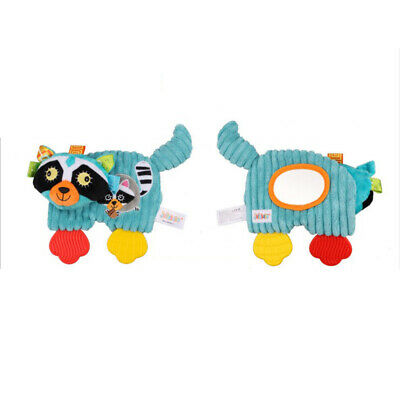 Baby Comforter Plush Teething Toys Cartoon Animals with Magic Mirror Baby K6H0