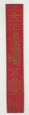 The Old Blacksmith`s Shop, Gretna Green. Red Leather English Bookmark.