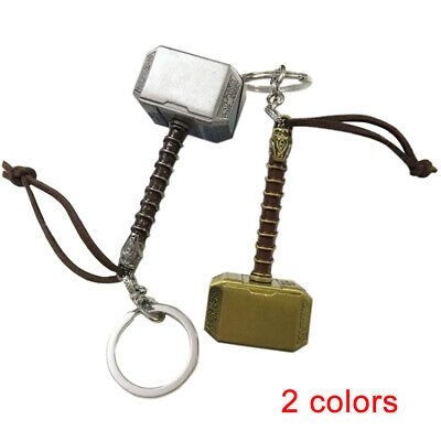 Marvel The Avengers Thor Thor's Hammer 3D Metal Keyring Key Chain 7.7cm*3.3cm