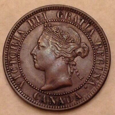 - Canada 1884 One 1 Large Cent  Victoria