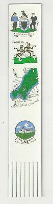 # The Lizard. White Leather English Bookmark.