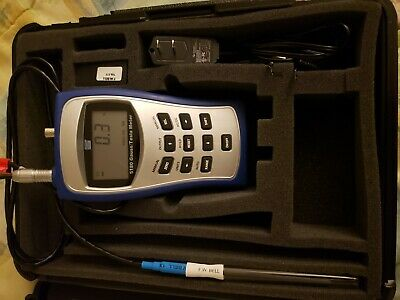 F.W. Bell 5180 Gaussmeter w/4in Probe, power adapter and case