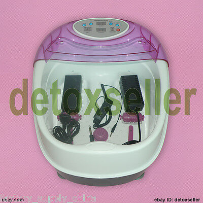 Purple Tub Detox Ionic Ion Foot Bath Cell Cleanse Spa Tub Machine Toxin Removal