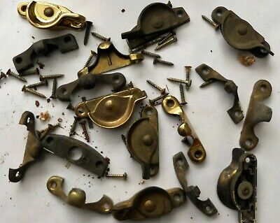 Window Sash Latches And Keepers, Vintage Lot