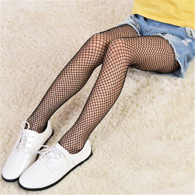 Girl Lace Fishnet Stockings Black Pantyhose Mesh Tights Jeans Net Grid*LJ WG