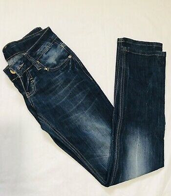 D&G Dolce And Gabbana Faded Blue Low Rise Straight Leg Jeans Size 28x31