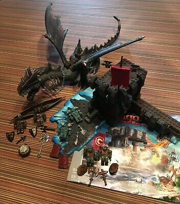 COMPLETE DRAGONS MEGA Bloks DRAGONSTONE BATTLEFIELD #9648 Out of Box