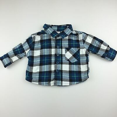 Boys size 000, Kids & Co, cotton flannel check long sleeve shirt, GUC