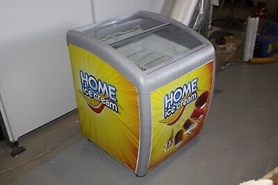 Intertek SD/SC-150JY Ice Cream Commercial Novelty Curved Display Chest Freezer
