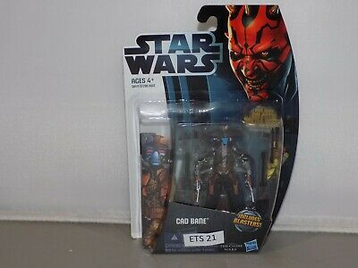 Star Wars 3.75in CAD BANE CW4 Clone Wars Collection 2012 new on card (ETS 21)