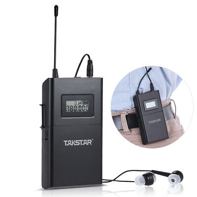 US Takstar WPM-200 UHF Wireless Transmitter Receiver LCD 6 Selectable Channels