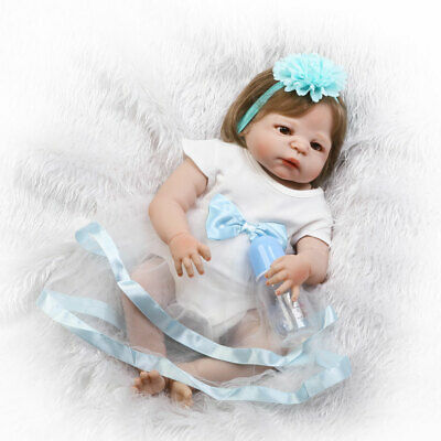 "Full Body Vinyl Silicone Reborn Toddler Doll 22"" Realistic Baby Dolls Anatomical"