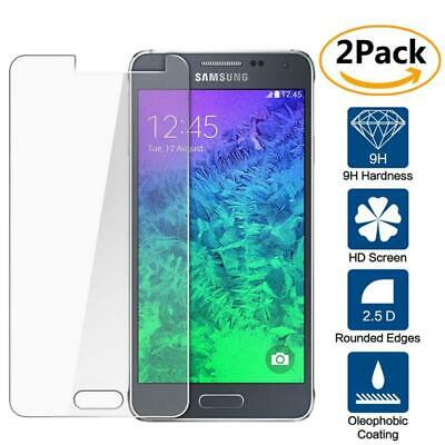 2 Pack Genuine Tempered Glass Screen Protector For Samsung Galaxy Alpha G850F