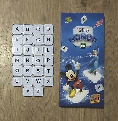 Woolworths Disney Words Tiles : DISNEY CHARACTERS With LETTERS (A-Z)