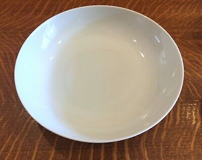 """3 Arzberg All White Coupe Shape  6 3/16"""" Cereal Bowls Germany Mid Century Modern"""