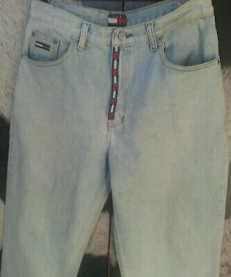 Tommy Hilfiger True Vintage 90'S High Waisted Jeans Straight Womens Faded Wash