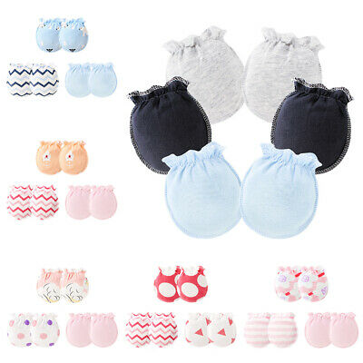 3 Pair/Set Baby Gloves 0-6 Month Infant Newborn Anti-grab Glove Foot Cover Thin