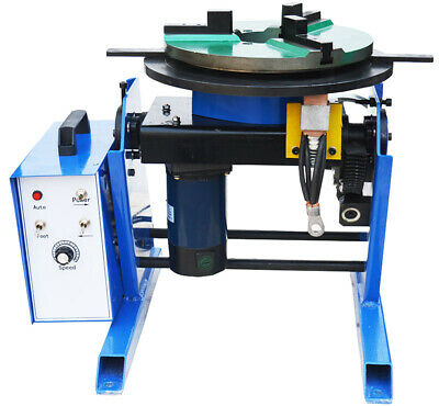 TECHTONGDA Large 110V Rotary Welding Positioner Turntable Machine with Chuck