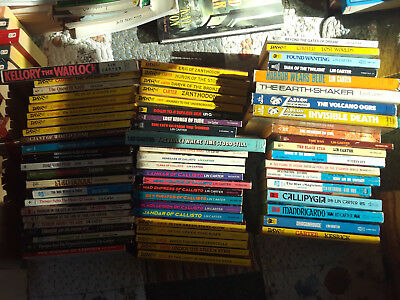 All of Lin Carter's f&sf novels but one, and a coupla collections (66 total)