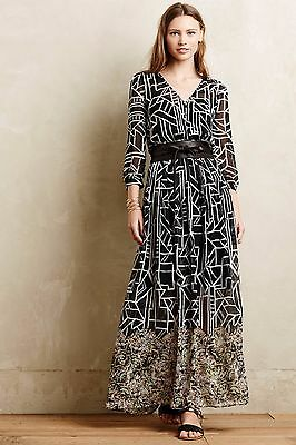 692491f327bfc NIP Anthropologie Equinox Pleated Maxi Dress by Moulinette Soeurs, 0, 2, 4,