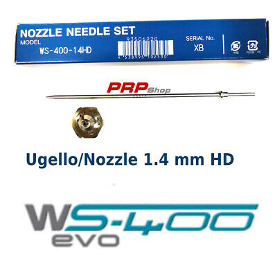 Set Ugello Materiale + Astina per Anest Iwata WS-400 - nozzle needle set 1.4HDmm