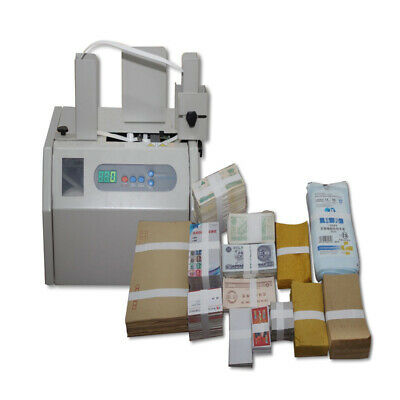 Automatic Banknote Invoice Bill Banding Machine Paper Tape Money Strapping  NEW