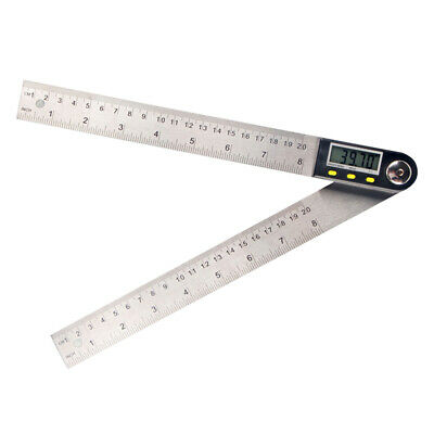 Multifunctional Digital LCD Display Angle Ruler 360° Stainless Steel P8Y1