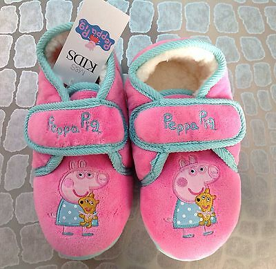 New Marks And Spencer Girls Peppa Pig Slippers Size Uk 13