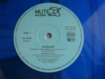 Erasure-It doesn´t have to be 12 inch Maxi LP-Blue Vinyl-1987 Germany-INT126.858