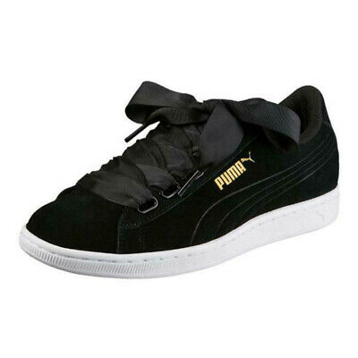PUMA SNEAKERS in pelle Vikky Platform Ribbon S Donna Blu
