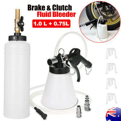 OZ 1L Air Brake Bleeder Clutch Vacuum Bleeding Extractor Fluid Fill Adapters Kit