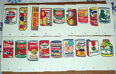 2014 Wacky Packages Old School Series 5 Complete Tattoo Set All 18 + Wrapper