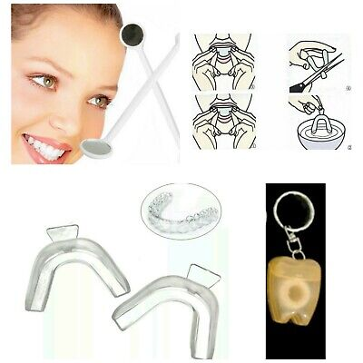 LOTE DENTAL 2x Férulas de descarga 1x Espejo dental 1x Llavero hilo dental 15Mts