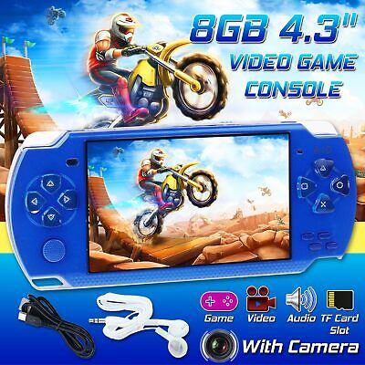"4.3"" 32Bit Handheld Portable Video Game Console Built-In 10000 Games 8GB Player"