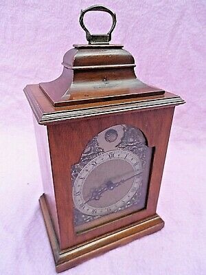 Vintage Oak Cased Mantle Clock With Rotherhams Floating Balance Movement Gwo