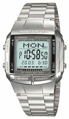 CASIO DATABANK DB-360-1AJF Silver Men's Stainless Steel Watch