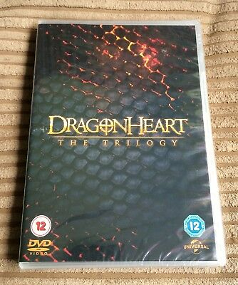 Dragonheart The Trilogy DVD A New Beginning/The Sorcerer's Curse NEW SEALED