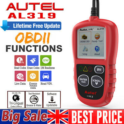 SALE! Car Fault Code Reader Engine Diagnostic Scanner Reset Tool OBD2 EOBD OBDII