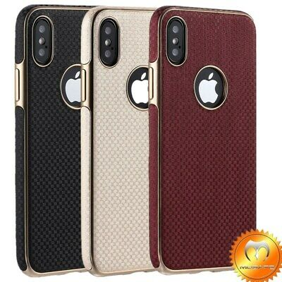 iPhone X XS Max XR Case Leather Heavy Duty Shockproof Slim Armor Cover for Apple