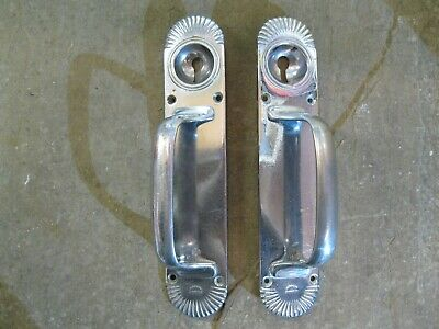 "1 Pair of original Reclaimed Chrome ""Gibbons of Wolverhampton"" Door Handles 0222"