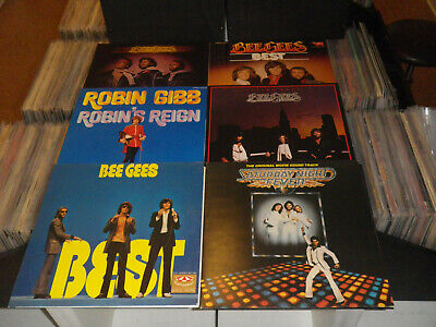 BEE GEES + SOLO: Livin Eyes/ Robin´s Reign etc., LOT WITH 4 LP`S + 2x 2 LP/ 12""
