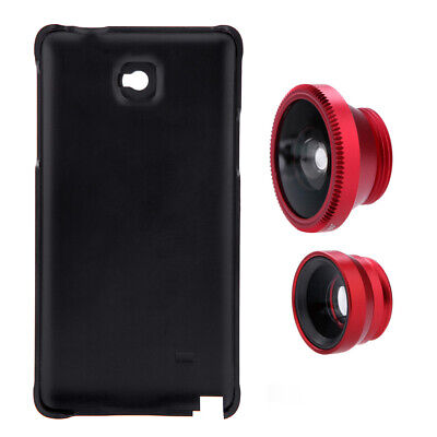 3in1 Lens 180° Fisheye Wide Angle 10X Macro Case for Samsung Galaxy Note 4 C9E2