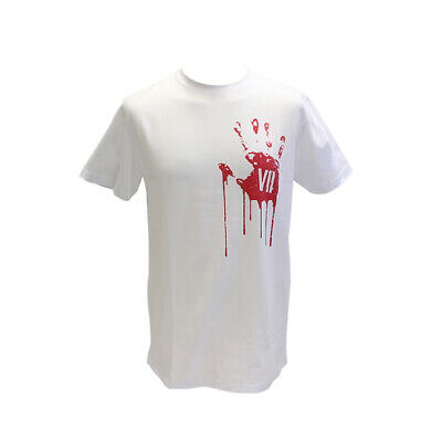 Resident Evil 7 VII Official Blood Red Stained Hand Print White T-Shirt