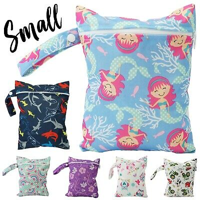Small Waterproof Wet Bag Nappy 20x25cm Cloth Nappies Reusable Swimmers Baby