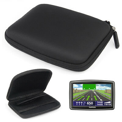"Durable 5"" In Car Sat Nav GPS Hard Case Holder Wallet For TomTom XXL IQ Rou S8R4"