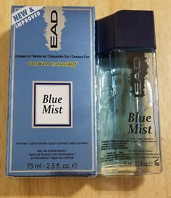 NEW EAD BLUE MIST MEN'S COLOGNE 2.5 oz SPRAY. COMPARE TO COOL WATER BY DAVIDOFF.