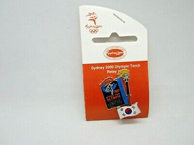 Sydney 2000 Olympic Games Torch Flag Series Seoul South Korea Torch Relay New
