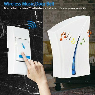 32 Music Tunes Wireless Doorbell Set with Receiver & Transmitter for Home Office