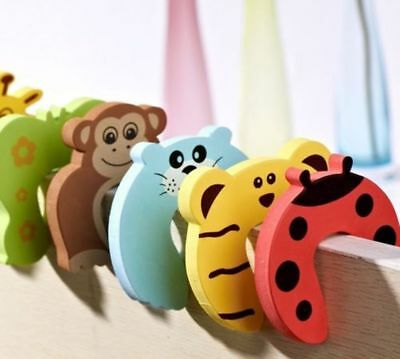 4x Cartoon Door Stopper Finger Pinch Baby Child Toddler Safety Guard Jammers