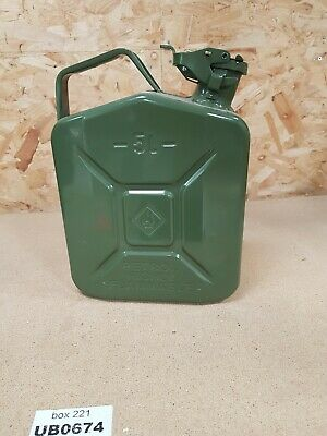 5L Green Metal Jerry Can Fuel Petrol Diesel Oil Containers Canister Army 4x4